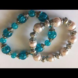 Two stretch bracelets